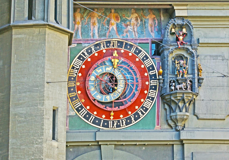 Astronomische klok van Zytglogge royalty-vrije stock afbeeldingen