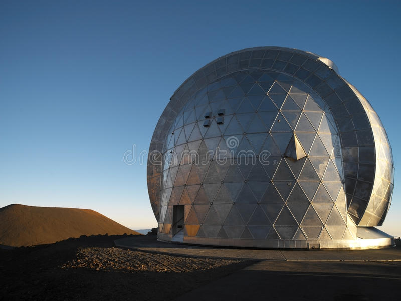 Astronomisches Beobachtungsgremium - Mauna Kea - Hawaii stockfotografie