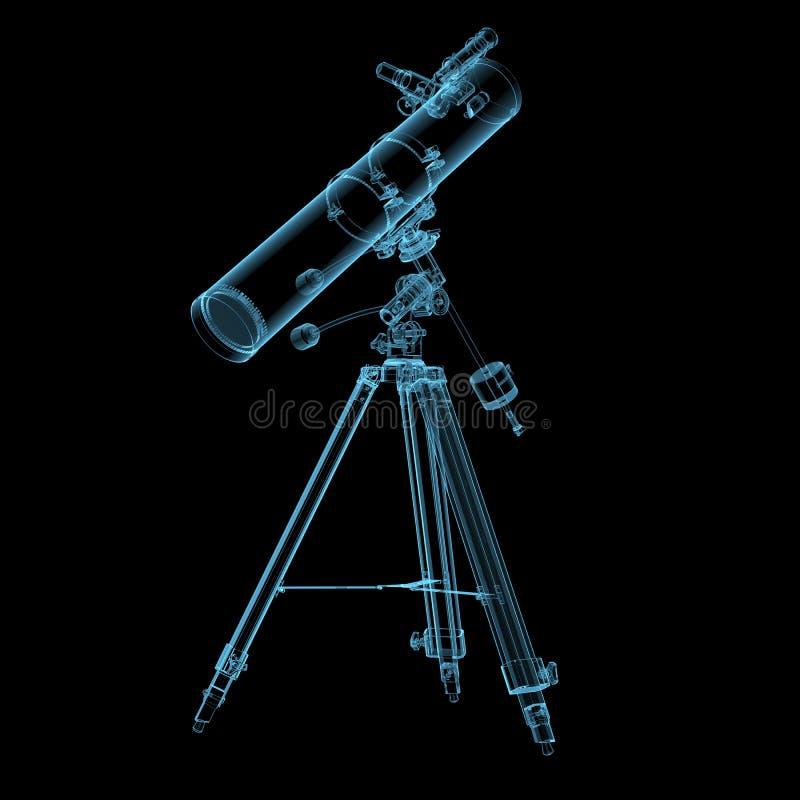 Astronomisches Teleskop lizenzfreies stockfoto