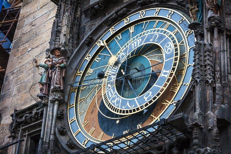 astronomisk klocka, Prague, kontrollrepublik royaltyfri bild