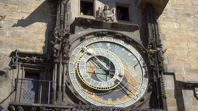 Astronomisk klocka, Prague kontrollrepublik, Europa arkivfoton