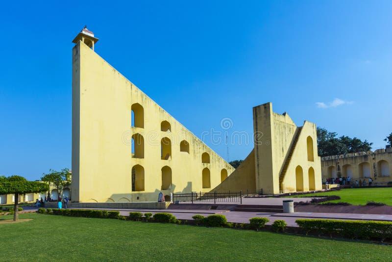 Astronomiskt instrument på den Jantar Mantar observatoriet fotografering för bildbyråer