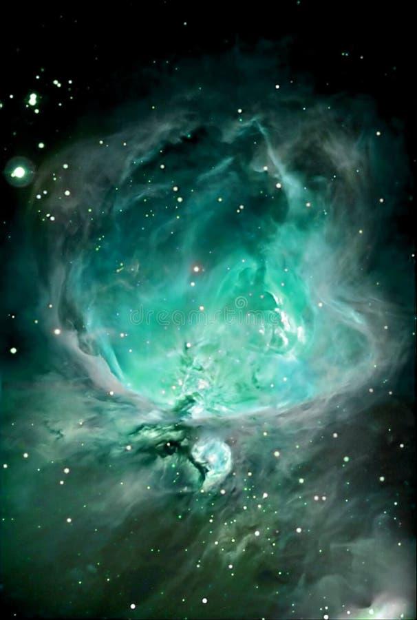 Astronomy. Nebula detail taken through telescope