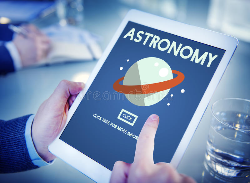 Astronomy Big Bang Planet Spaceship Concept royalty free stock photo
