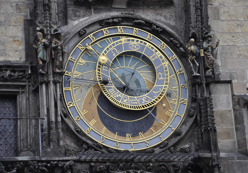 Astronomy Clock from Prague in Czech Republic. On a day of august 29 2014 stock image