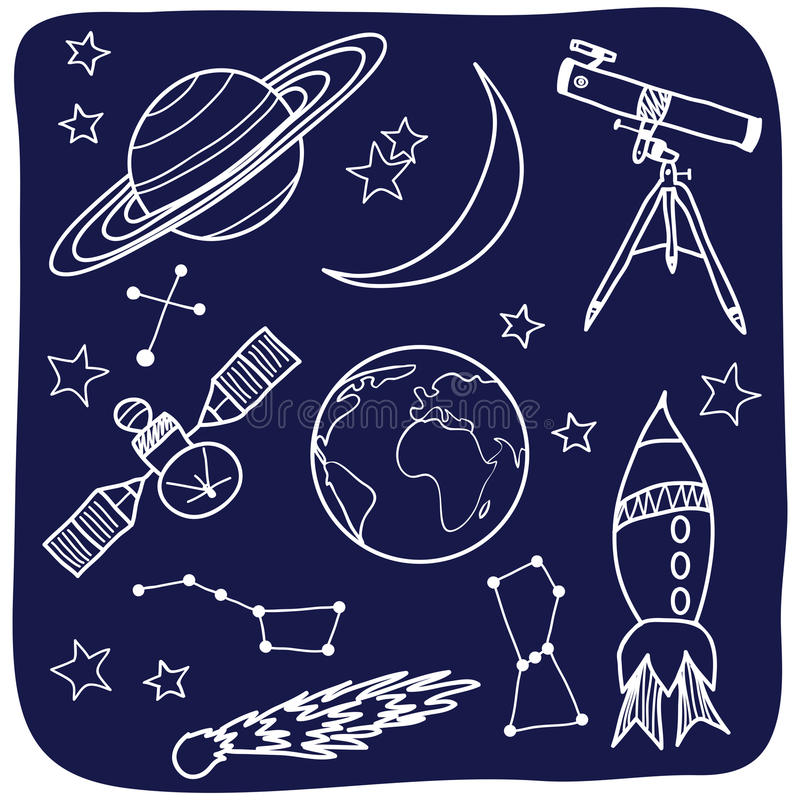 Astronomy - Space And Night Sky Objects Stock Images