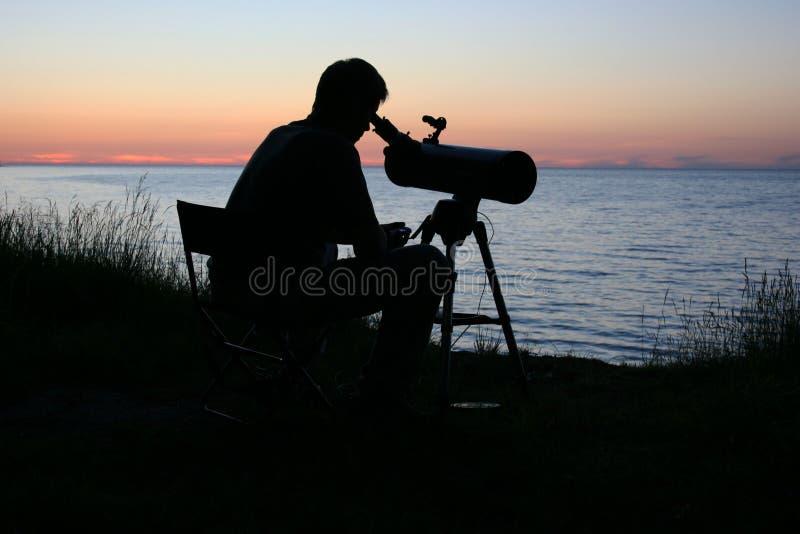 Astronoom royalty-vrije stock foto