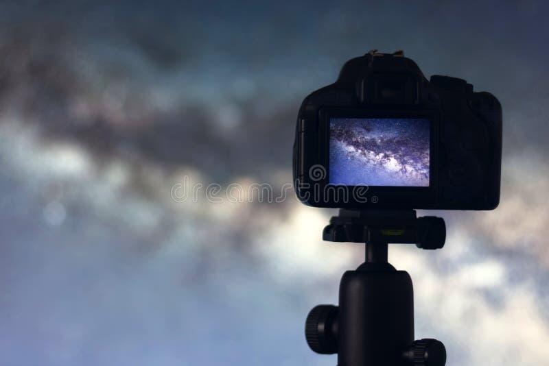 Astrophotography Photographie d'exposition d'astronomie d'espace longue photo libre de droits