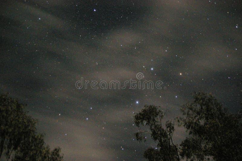 Astrophotography som visar natthimlen med konstellationer royaltyfri bild