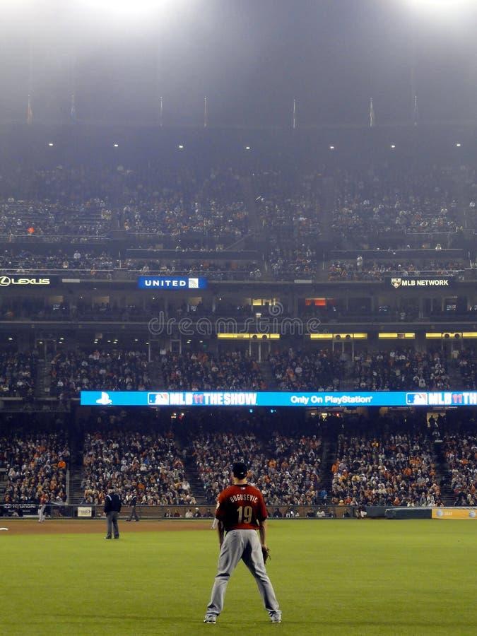 Astros right fielder Brian Bogusevic stojaki w polu zewnętrzn czekają zdjęcia royalty free
