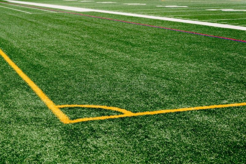 Astroturf boisko piłkarskie fotografia stock