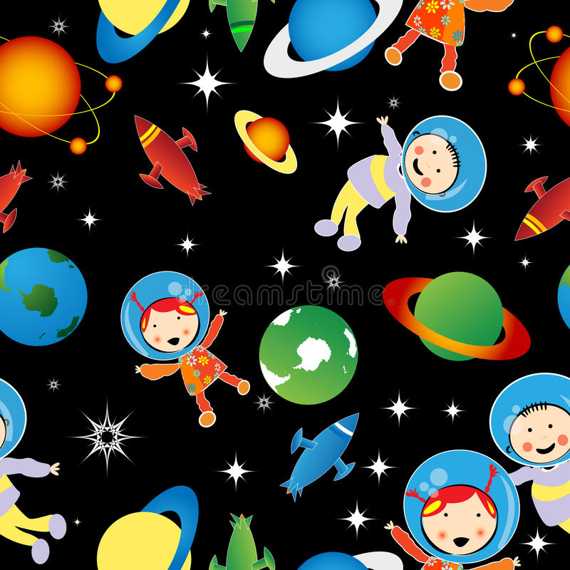Download Astrounauts pattern stock vector. Image of drawing, galaxy - 16911867