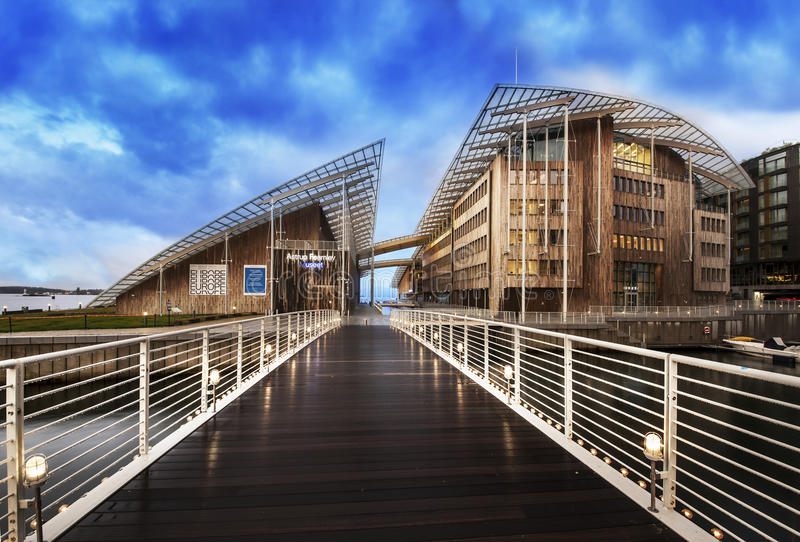 Astrup Fearnley Museum of Modern Art, Oslo, Norway. royalty free stock image
