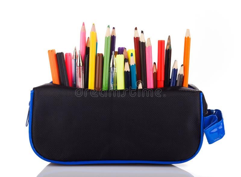 Astuccio per le matite fotografia stock libera da diritti