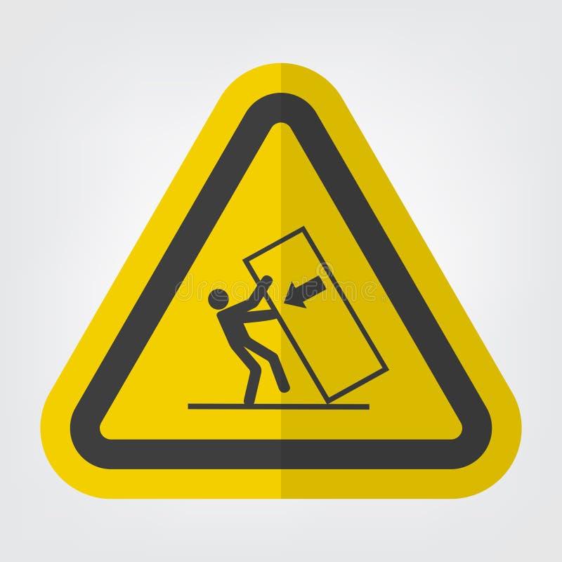 Astuce d'écrasement de corps au-dessus d'isolat de signe de symbole de risque sur le fond blanc, illustration ENV de vecteur 10 illustration stock