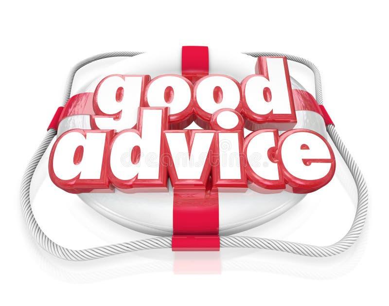 Astuces d'aide de secours de conservateur de vie de mots de bon conseil illustration de vecteur