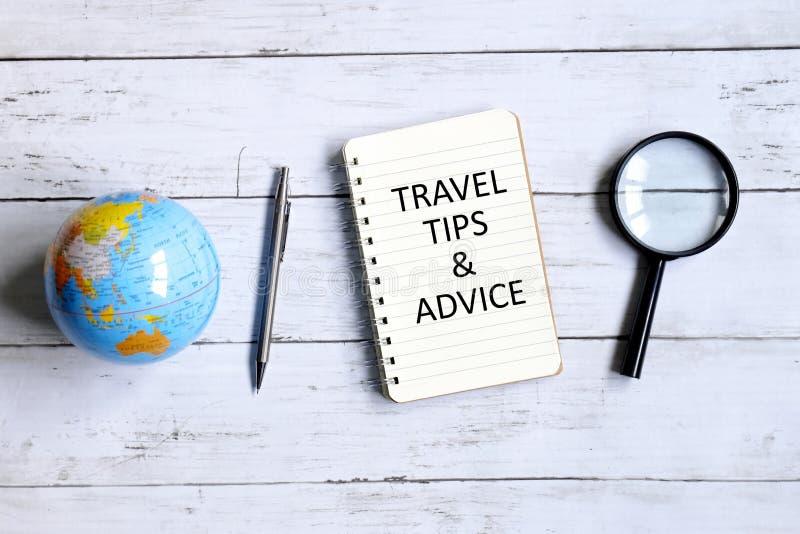 Astuces et conseil de voyage image libre de droits