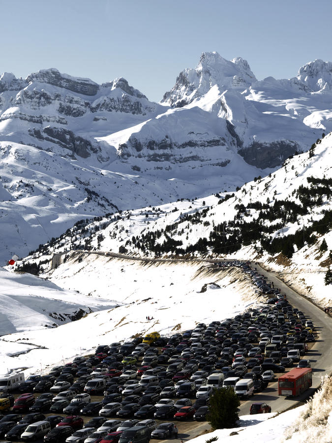 Download Astun stock photo. Image of station, cold, pyrenees, crowded - 13081400