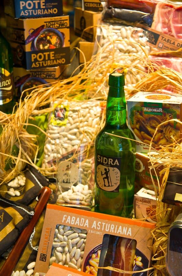 Asturian specialties royalty free stock photos