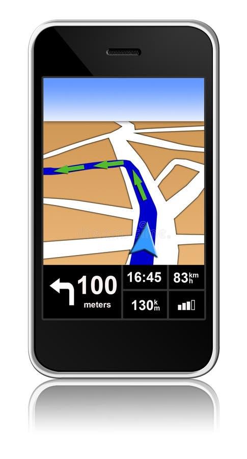 Astuto-telefono con il navigatore dei gps all'interno illustrazione vettoriale