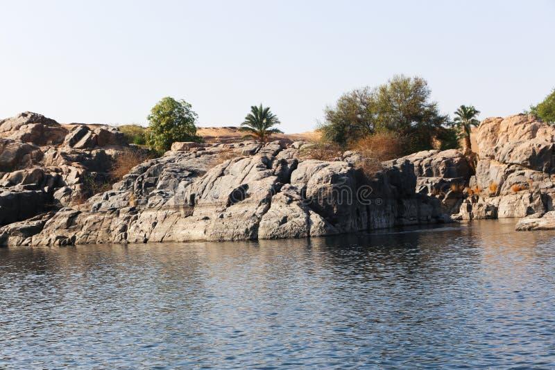 Asuán Nile River - Egipto fotografía de archivo libre de regalías