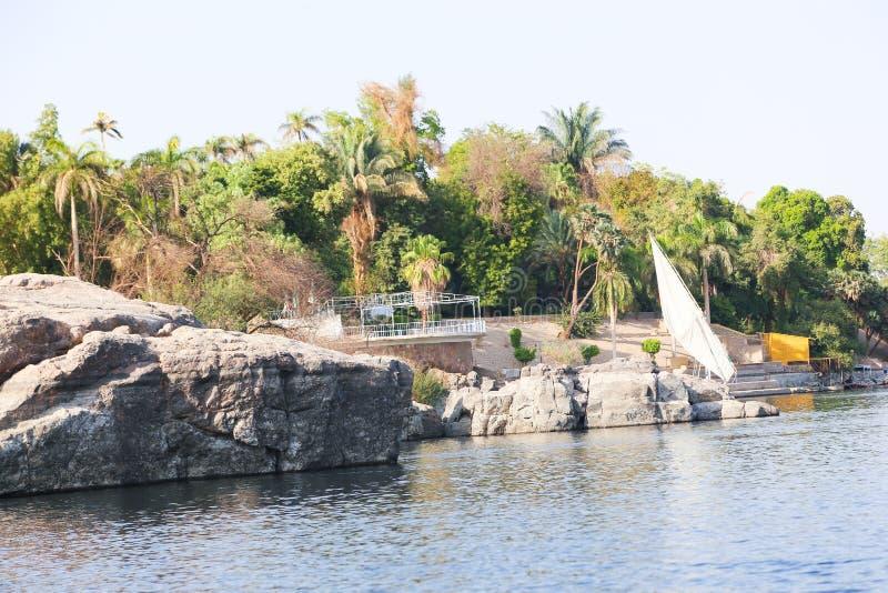 Asuán Nile River - Egipto imagenes de archivo