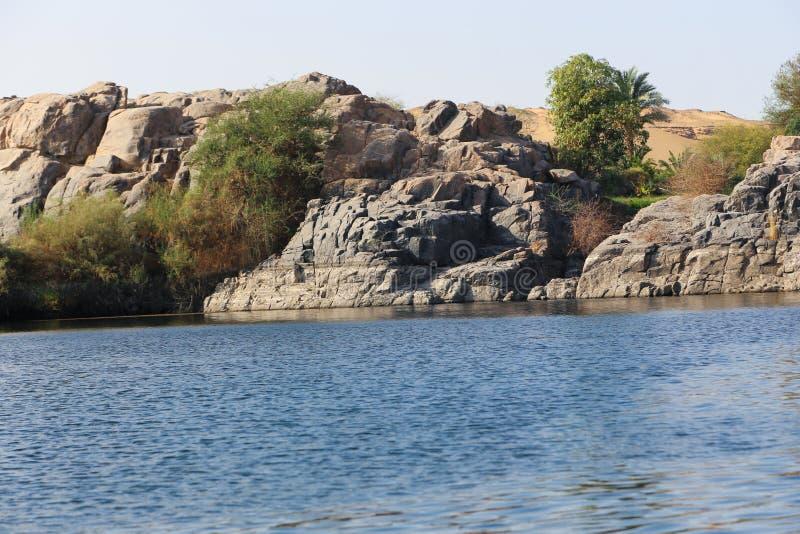 Asuán Nile River - Egipto fotos de archivo libres de regalías