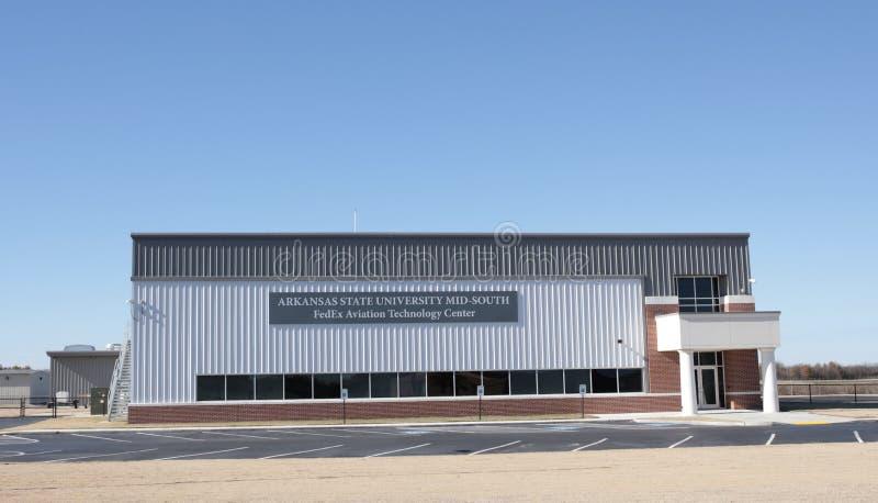 ASU中间南部联邦快递公司中心,西部孟菲斯,阿肯色 免版税库存图片