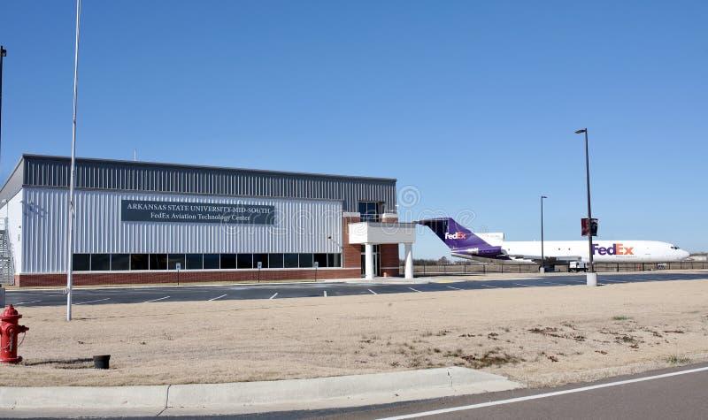 ASU中间南部联邦快递公司技术中心,西部孟菲斯,阿肯色 库存照片