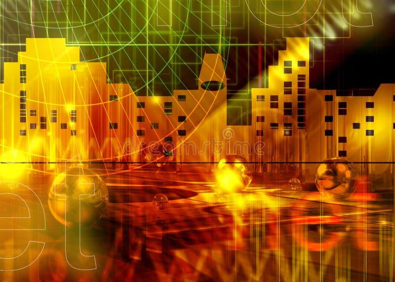 Asunto abstracto y ÉL stock de ilustración