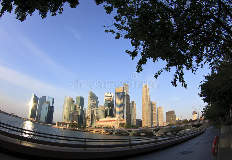 Asunto central Disctrict de Singapur imagen de archivo libre de regalías