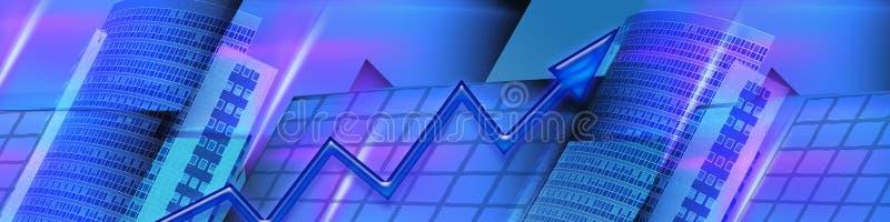 Asunto de la bandera y resultados financieros cada vez mayores stock de ilustración