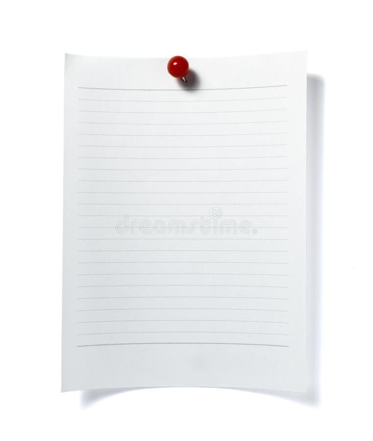Asunto de la oficina del recordatorio del papel de nota fotos de archivo