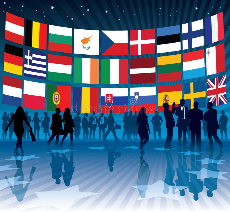 Asunto de la UE ilustración del vector