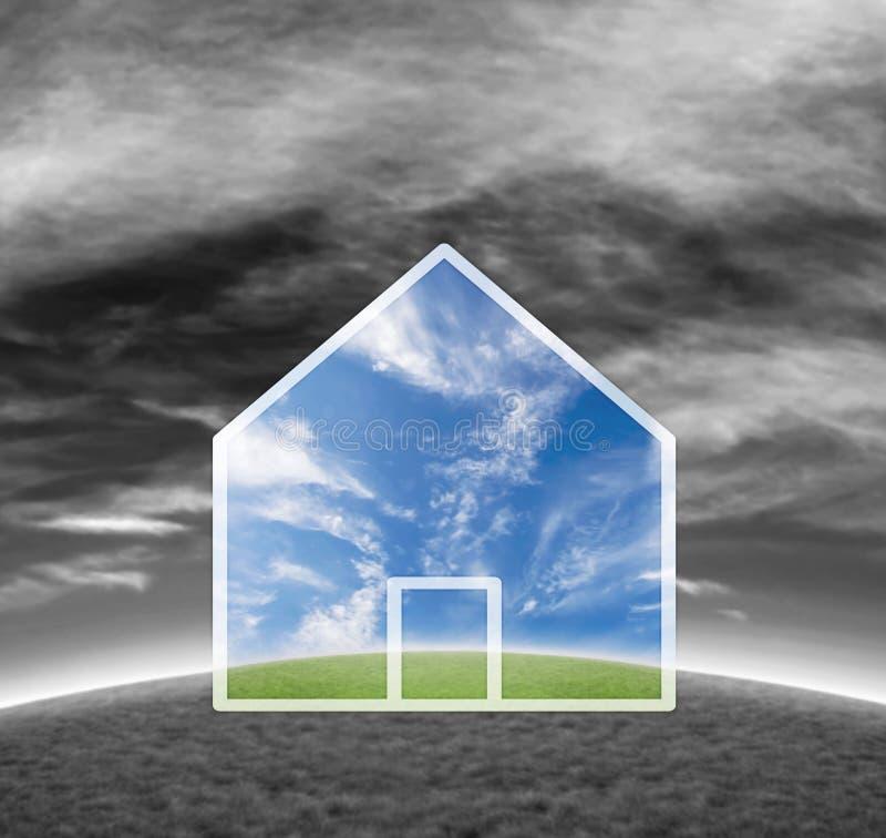 Asunto de las propiedades inmobiliarias ilustración del vector