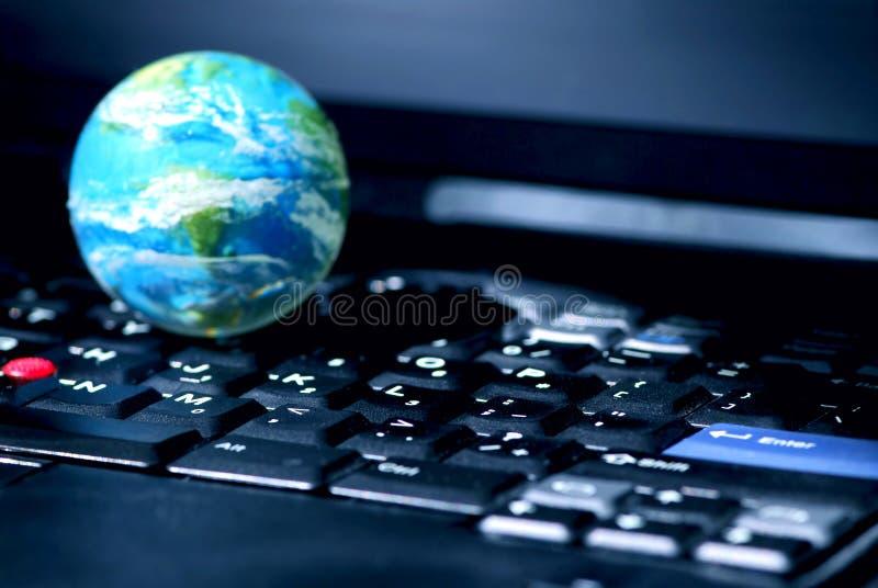 Asunto de ordenador del Internet global imagenes de archivo