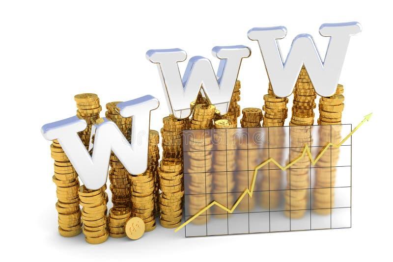 Asunto del Internet stock de ilustración
