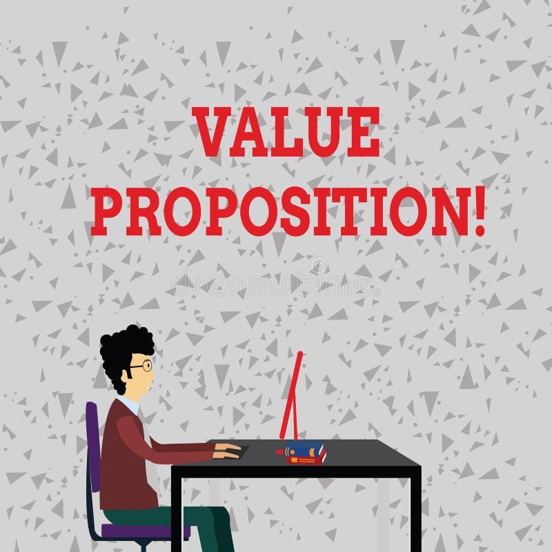 Asunto del valor de texto de la escritura de la palabra El concepto del negocio para el servicio de la innovación previsto hace e ilustración del vector