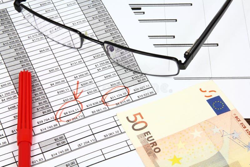 Asunto euro foto de archivo