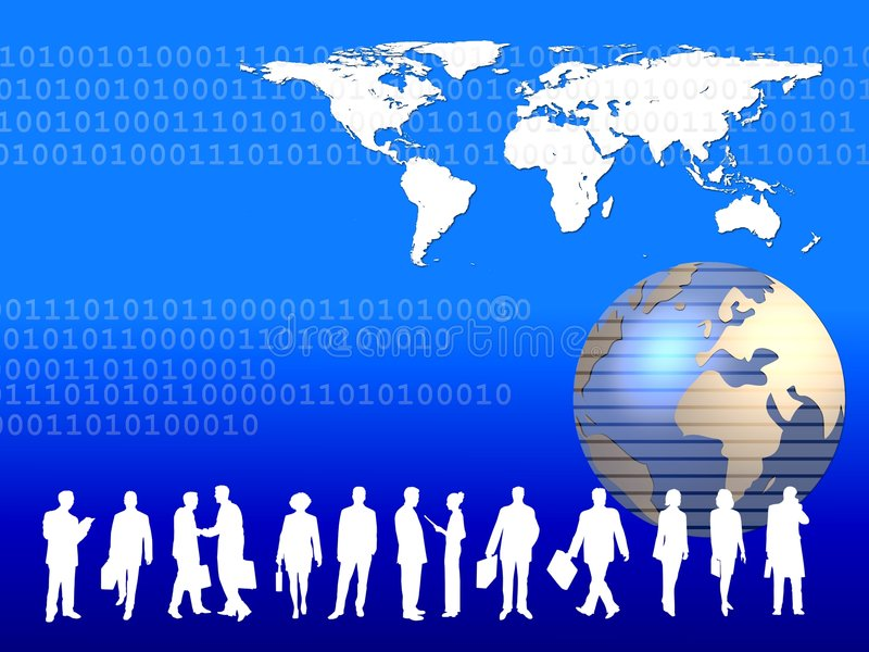 Asunto global   libre illustration