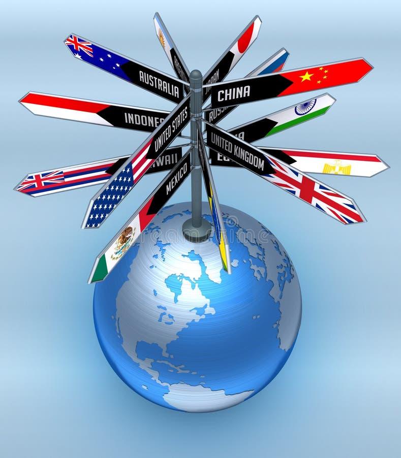 Asunto global y turismo ilustración del vector