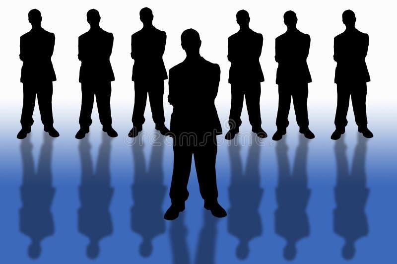 Asunto team-1 stock de ilustración