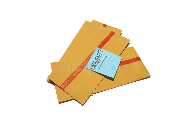 Asunto urgente y confidencial imagen de archivo libre de regalías