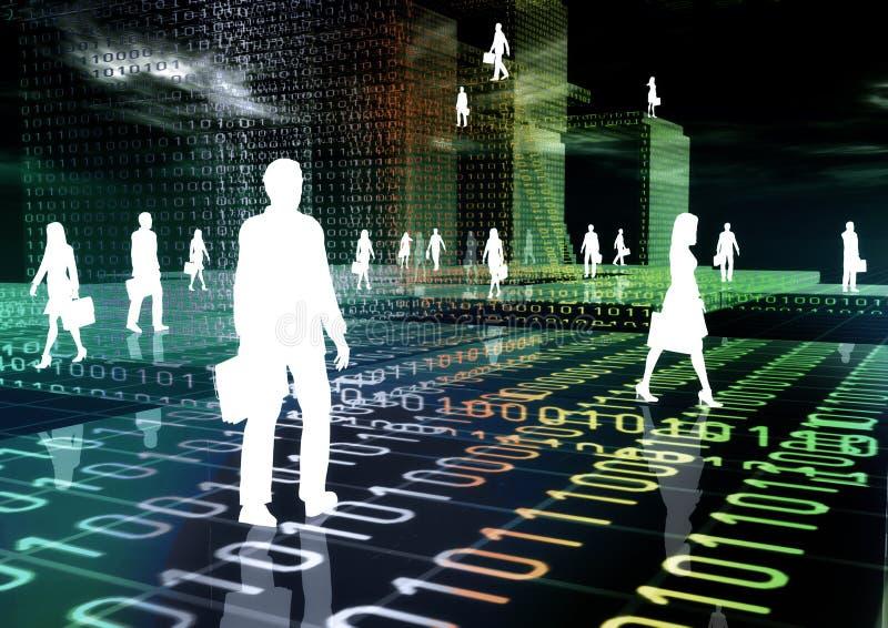 Asunto virtual 03 ilustración del vector