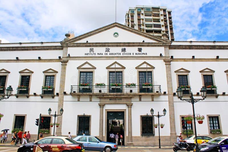 Asuntos cívicos y municipales oficina, Macao, China fotografía de archivo libre de regalías