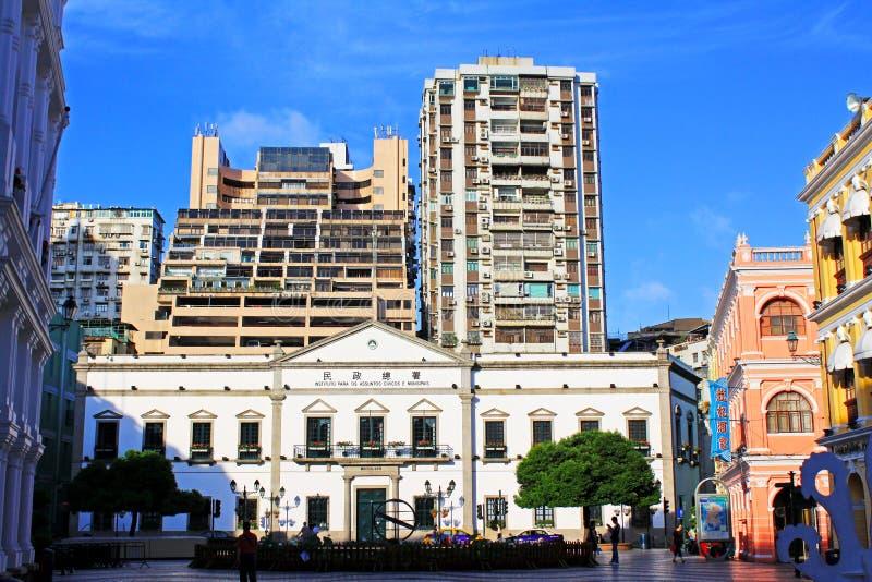 Asuntos cívicos y municipales oficina, Macao, China fotos de archivo libres de regalías