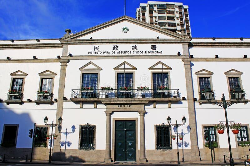 Asuntos cívicos y municipales oficina, Macao, China imagen de archivo