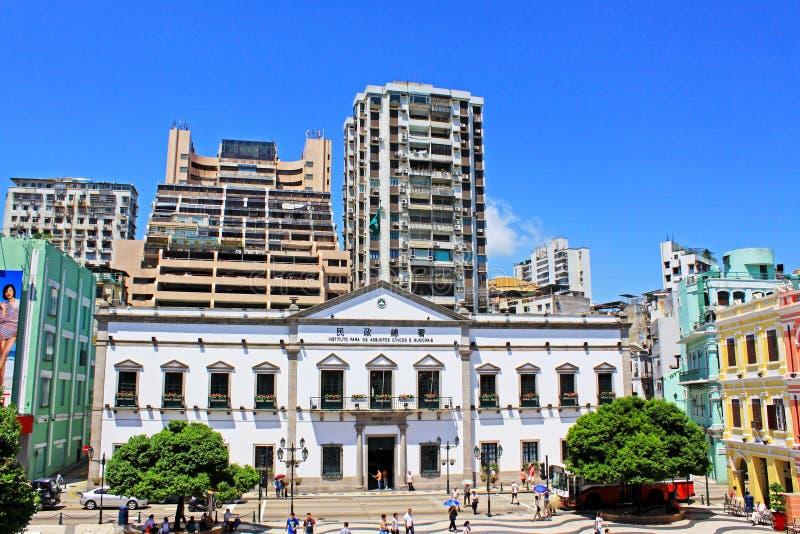 Asuntos cívicos y municipales oficina, Macao, China foto de archivo