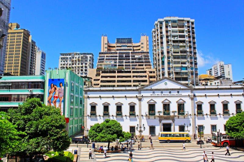 Asuntos cívicos y municipales oficina, Macao, China fotos de archivo