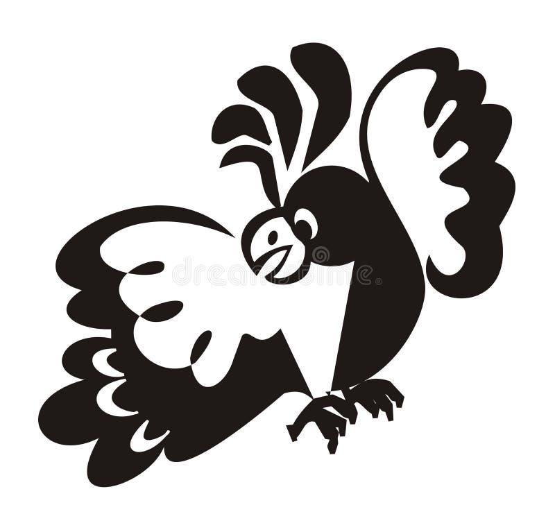 Asuste un cockatoo. stock de ilustración